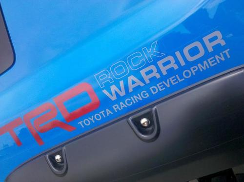 pair TRD Rock Warrior TOYOTA racing development side vinyl decal sticker