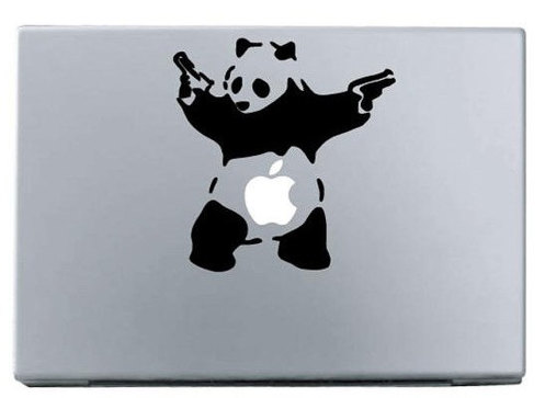 Apple panda macbook decal sticker