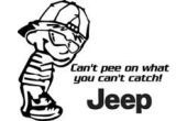 Pee on jeep