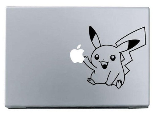 Apple pikaqu macbook decal macbook sticker
