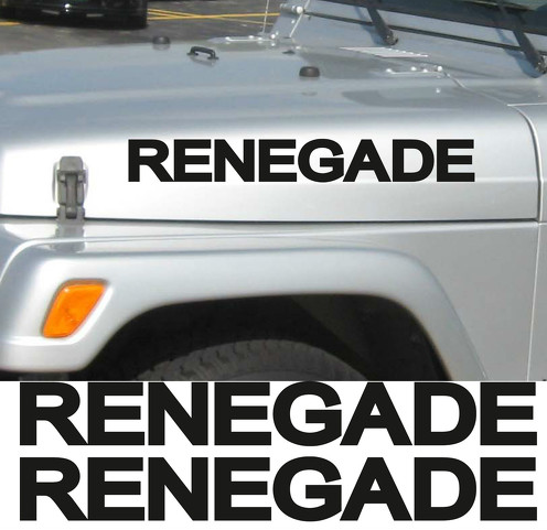 2 Renegade Jeep Wrangler Rubicon CJ TJ YK JK XJ Sticker Decal#2