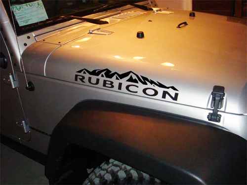 2 Jeep Wrangler Rubicon MOUNTAINS CJ TJ YK JK XJ Vinyl Sticker#1