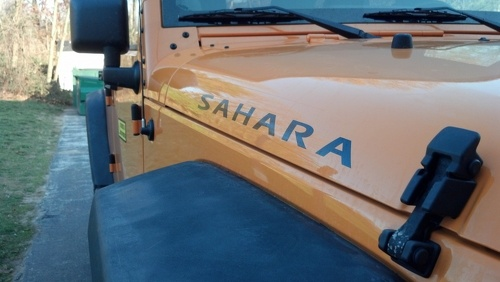 2 Sahara Jeep Wrangler Rubicon CJ TJ YK JK XJ Vinylaufkleber