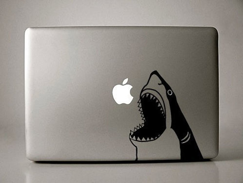 Apple shark macbook decal sticker