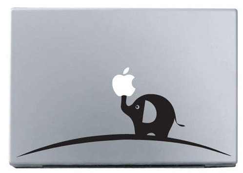 Apple small elephant macbook decal macbook sticker