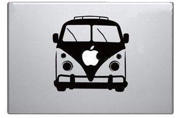 Apple small bus macbook decal sticker