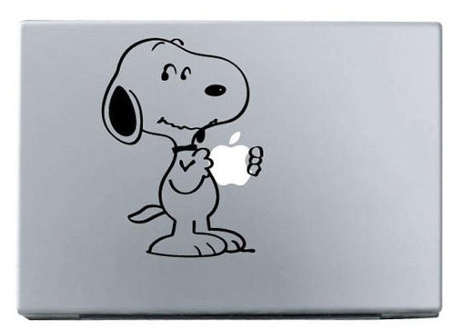 Apple snoopy macbook decal macbook sticker