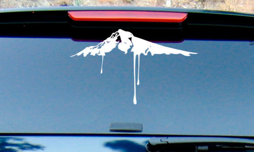 Snow mountaintop burton snowboard vinyl decal sticker