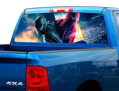 Spiderman 3 vs black movies Rear Window Decal Sticker Pick-up Truck SUV Car 2