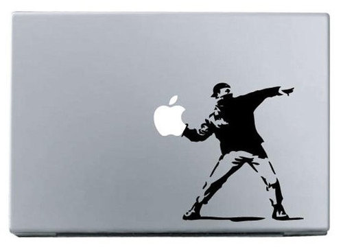 Apple sports man macbook decal sticke