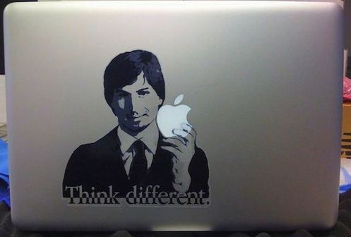 Apple Steve Jobs macbook decal sticker