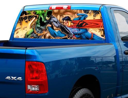 Batman vs Superman Art Rear Window Decal Sticker Pick-up Truck SUV Car #2