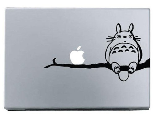 Apple totoro on branch macbook decal sticke