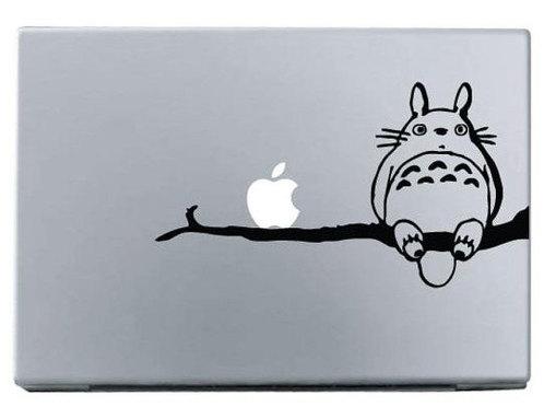 Apple totoro on branch macbook decal sticke
