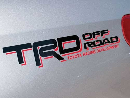 TRD Sport Tacoma Tundra Quarter Panel Decals Stickers Off Road