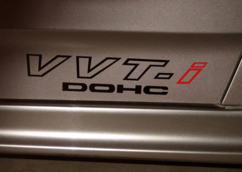 vvt-i vvti decal sticker red Celica Scion tc xB Matrix