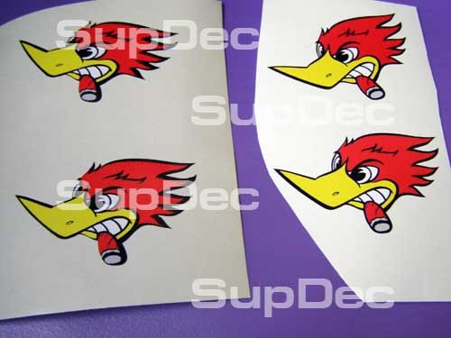 WOODY woodpecker 4 SET left Auto Decal Stickers