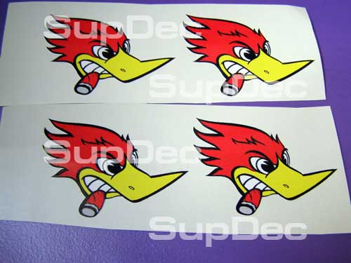 WOODY woodpecker 4 SET right Auto Decal Stickers